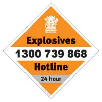24-hour Explosives Hotline: 1300 739 868